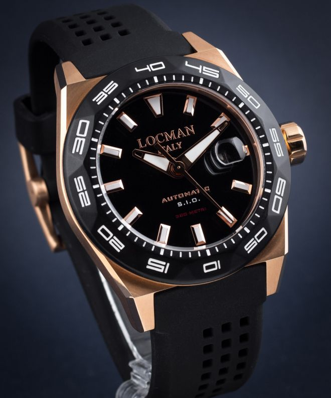 Locman Stealh Professional Automatic Men's Watch 0215V5-RKBK5NS2K