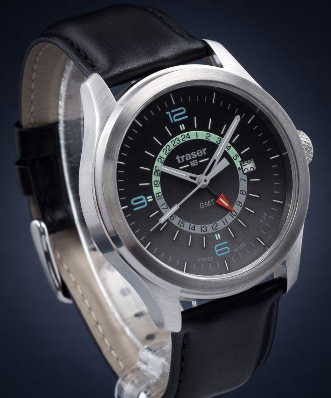 Traser Aurora GMT Silver Men's Watch TS-107231