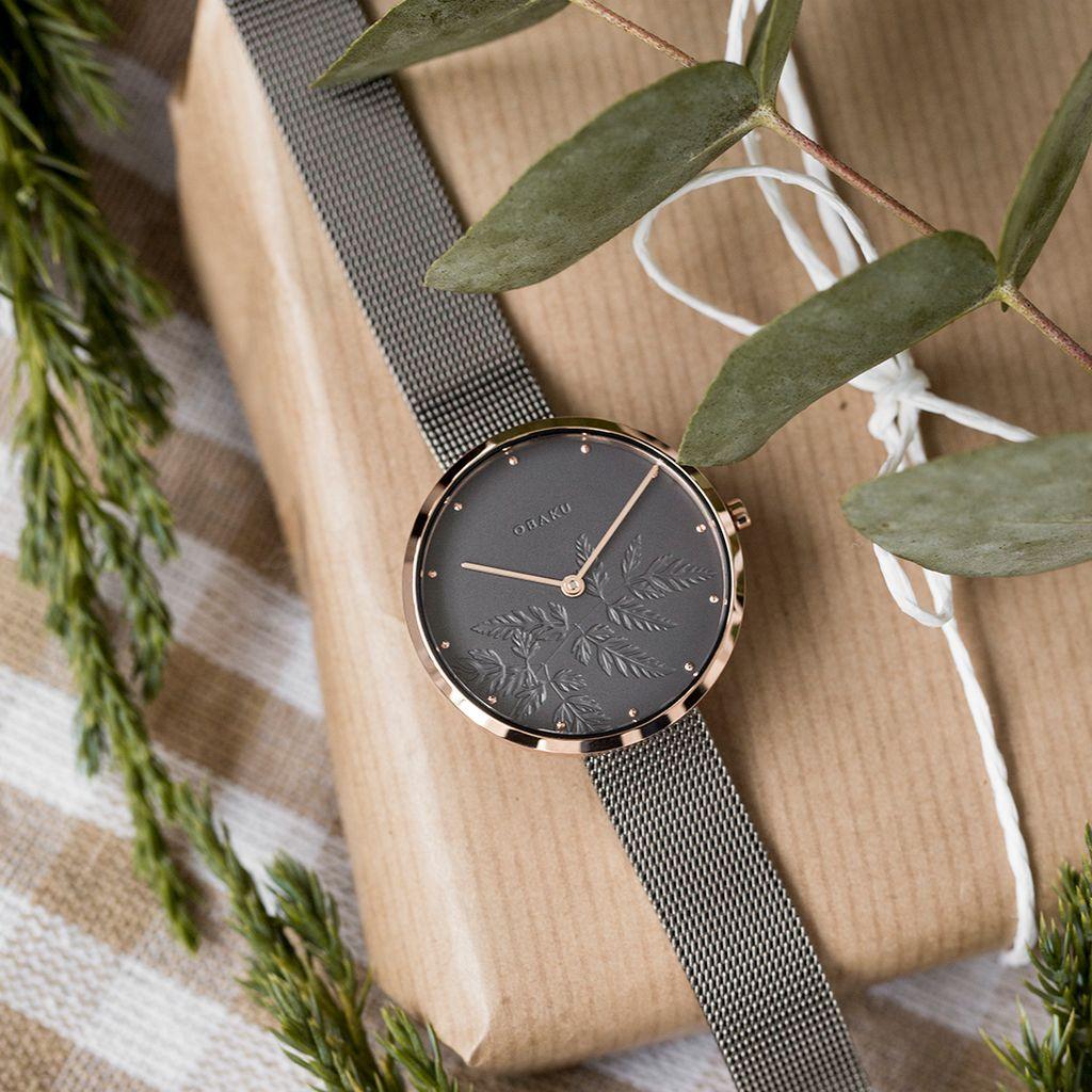 Obaku Hassel Natur Granite Women's Watch